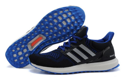 Mens Adidas Ultra Boost Black & Blue Australia